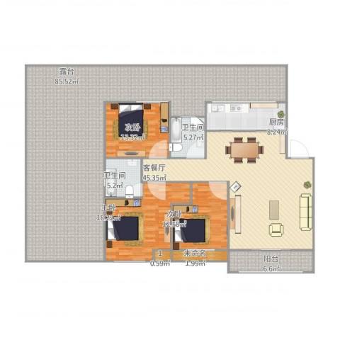 东海未名园3室1厅2卫1厨269.00㎡户型图