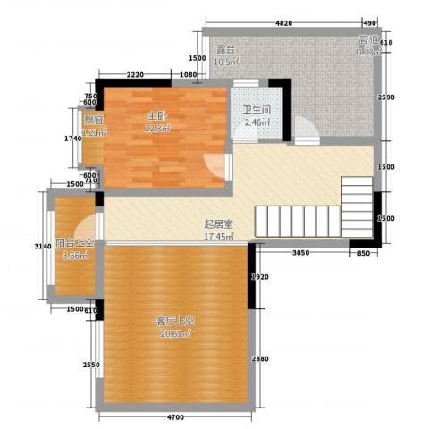 合川金科天籁城1室0厅1卫0厨76.70㎡户型图
