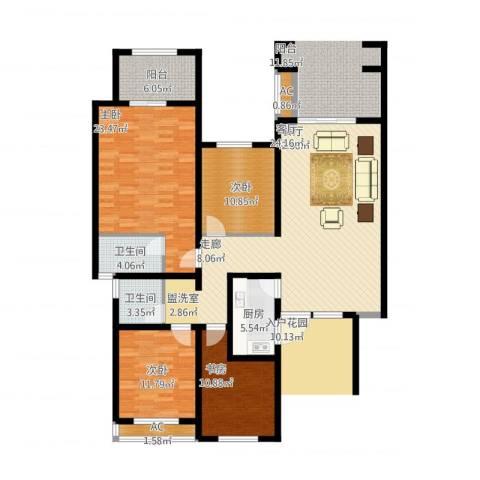 正商红河谷4室1厅2卫1厨173.00㎡户型图
