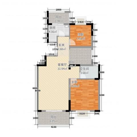 海纳国际2室1厅1卫1厨225.00㎡户型图
