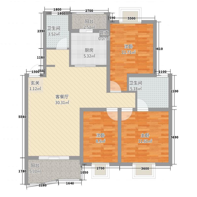 德润园153.00㎡户型4室