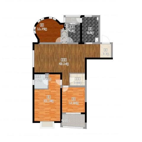 创智赢家3室2厅4卫1厨172.00㎡户型图