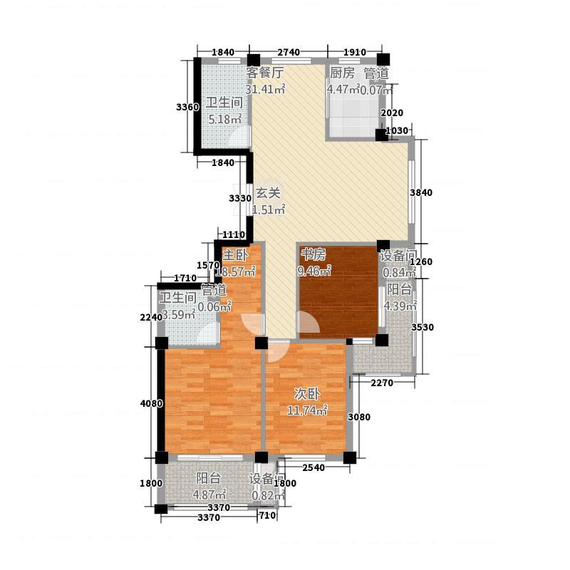月亮湾32136.20㎡B型户户型3室2厅2卫1厨
