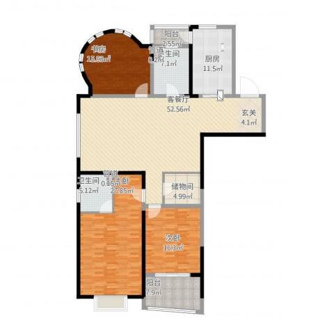 创智赢家3室1厅4卫1厨214.00㎡户型图
