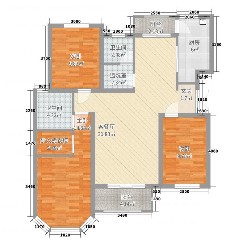 亿博上城513.35㎡A5/户型3室2厅2卫