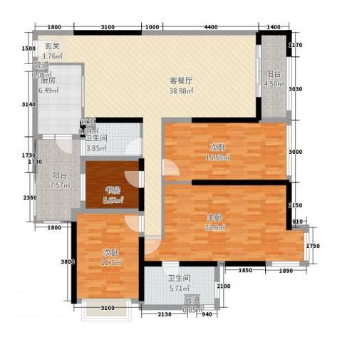 佳润上品轩4室1厅2卫1厨123.17㎡户型图