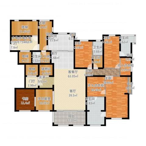 华润新江湾九里4室1厅5卫1厨369.00㎡户型图