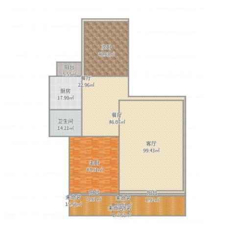 建发花园二期2室2厅1卫1厨421.00㎡户型图