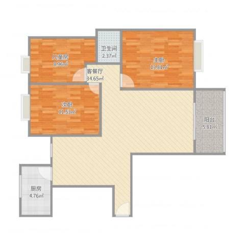 海韵嘉园25号楼9043室1厅1卫1厨110.00㎡户型图