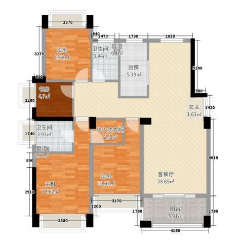 五洲国际4室1厅2卫1厨4213.00㎡户型图