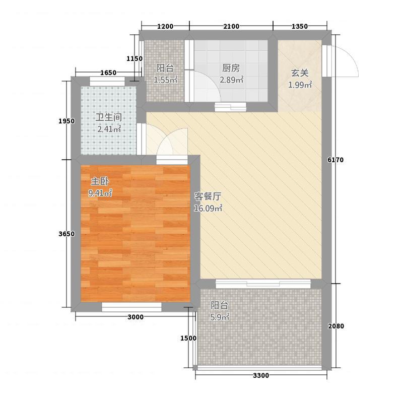 坭坝・青云林海2144.20㎡户型1室1厅1卫1厨