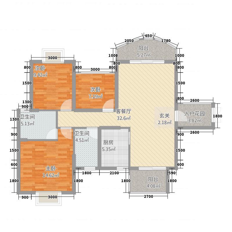 荣顾购物公园3212.54㎡户型3室2厅2卫