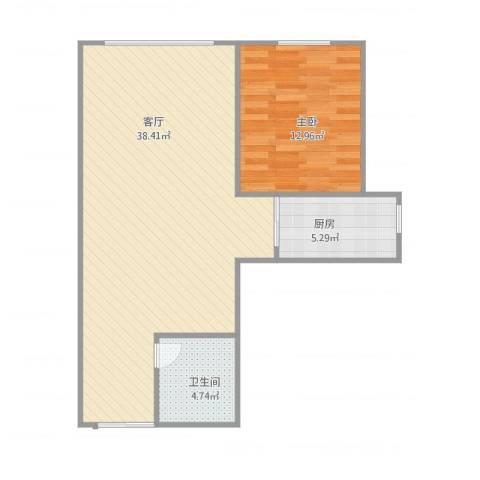 瑞宁嘉园1室1厅1卫1厨82.00㎡户型图