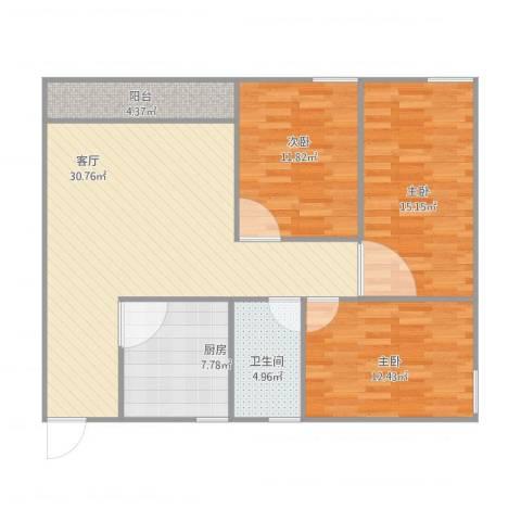 嘉俊苑佳颐阁4033室1厅1卫1厨117.00㎡户型图
