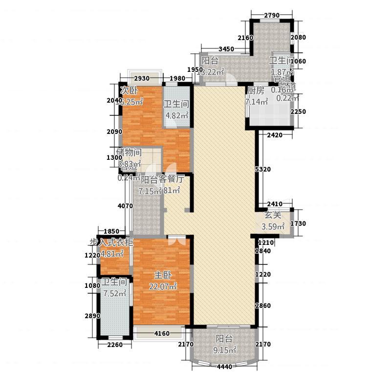 敏捷・畔海御峰52245.20㎡5座2梯02单元3室户型3室2厅4卫1厨