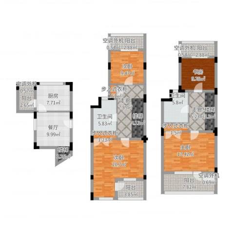 叠墅ONE4室1厅2卫1厨194.00㎡户型图