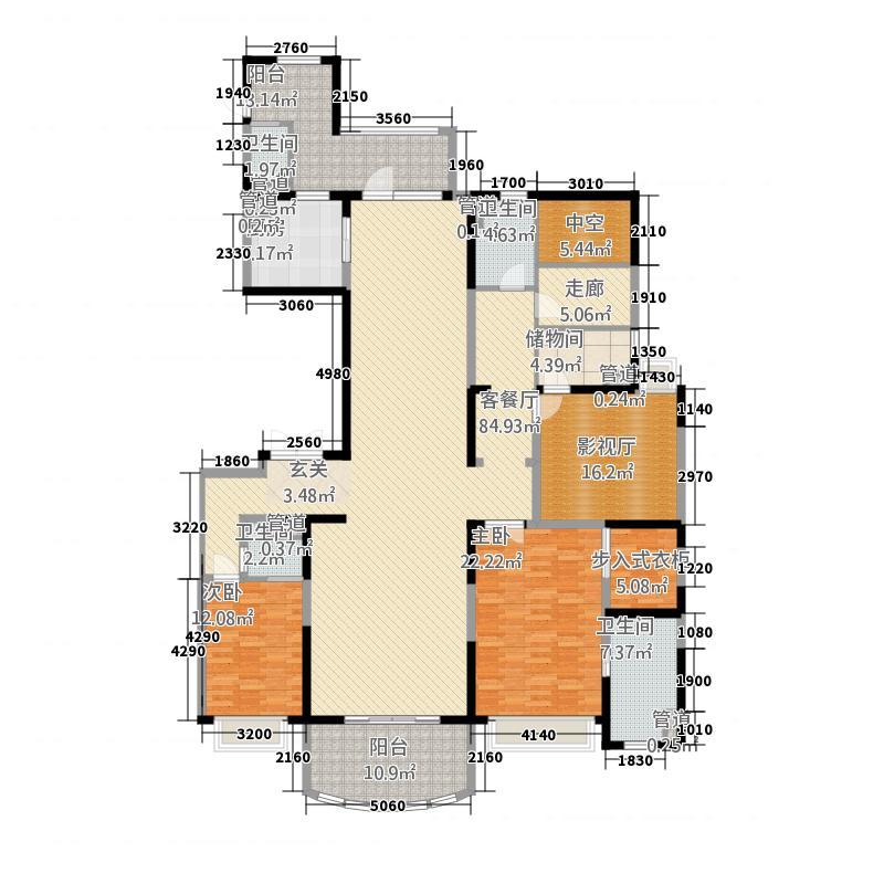 敏捷・畔海御峰52245.20㎡5座2梯01单元3室户型3室2厅4卫1厨