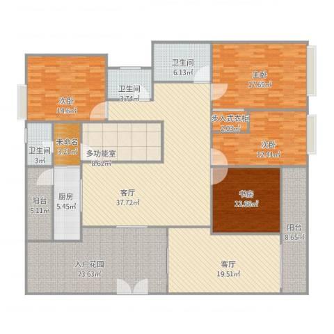 中海万锦豪园4室2厅3卫1厨248.00㎡户型图