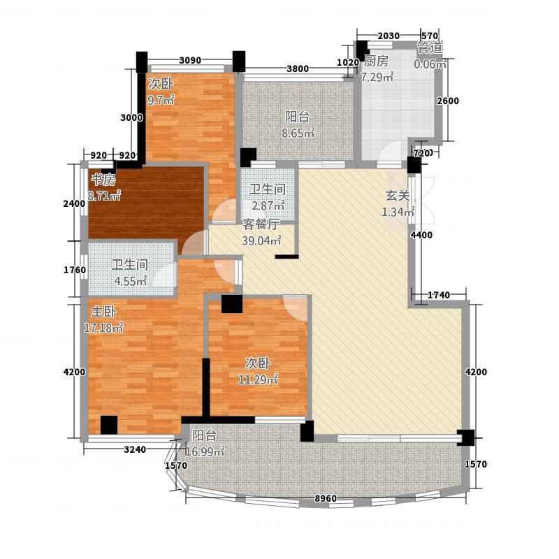 海润尊品户型4室