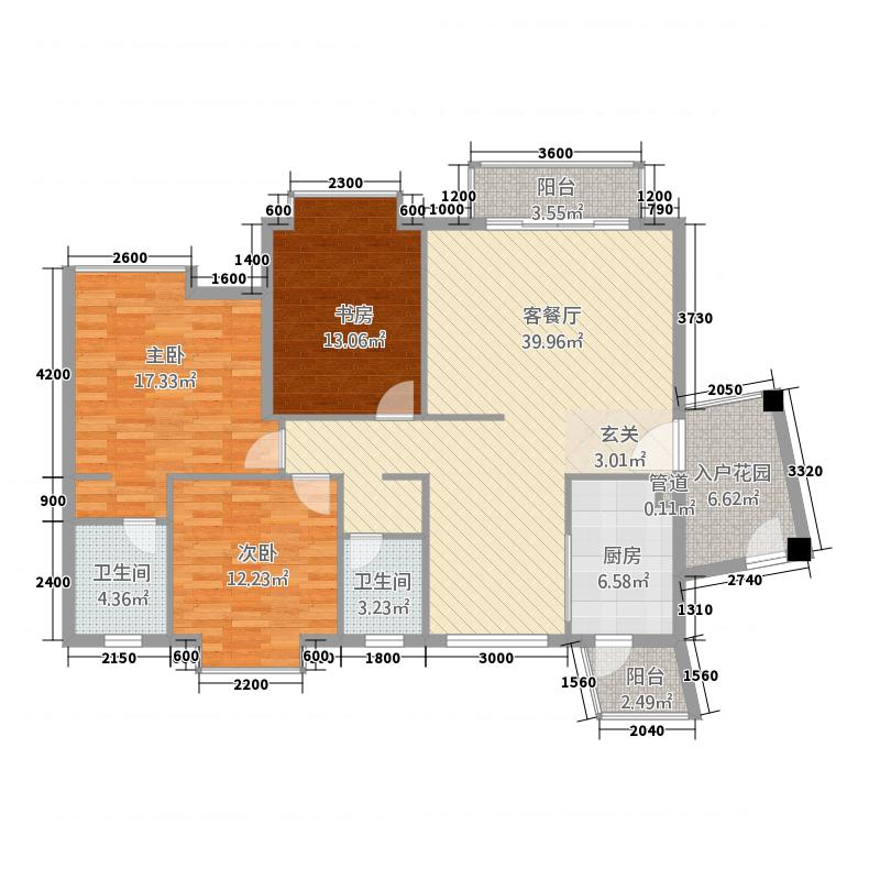 泉海好家园135.56㎡悦海阁 逸海阁G户型3室2厅2卫1厨