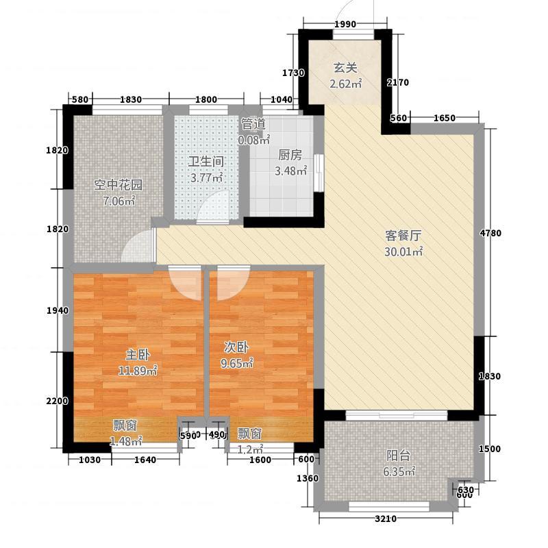 华邦世家14855117.00㎡1409855_m户型3室2厅2卫1厨