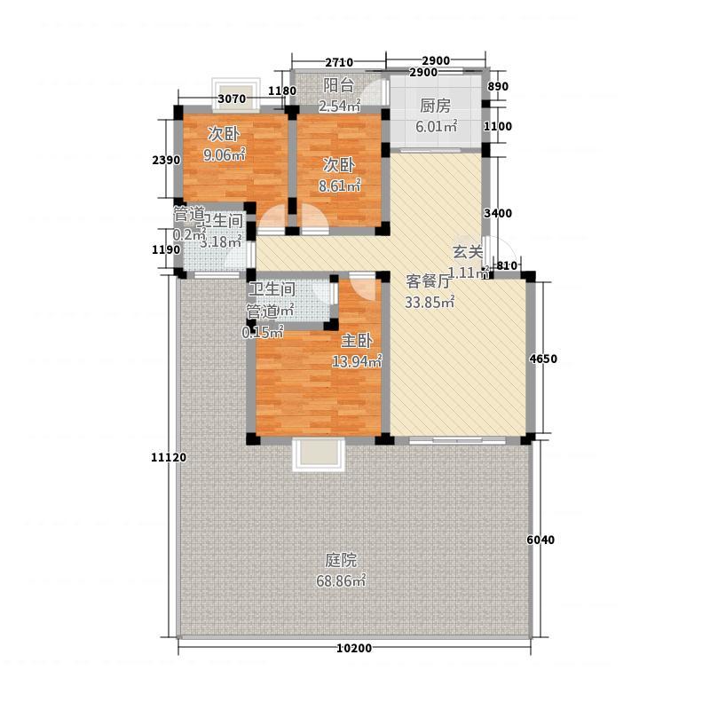 丽江映像6316.22㎡A-6户型3室2厅2卫1厨