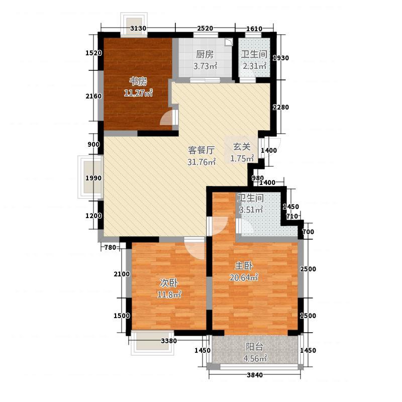 厚德苑32122.20㎡户型3室2厅2卫1厨