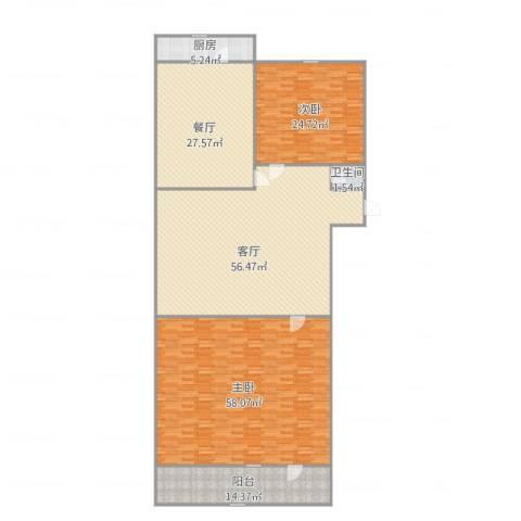 二七南路宿舍2室2厅1卫1厨246.00㎡户型图