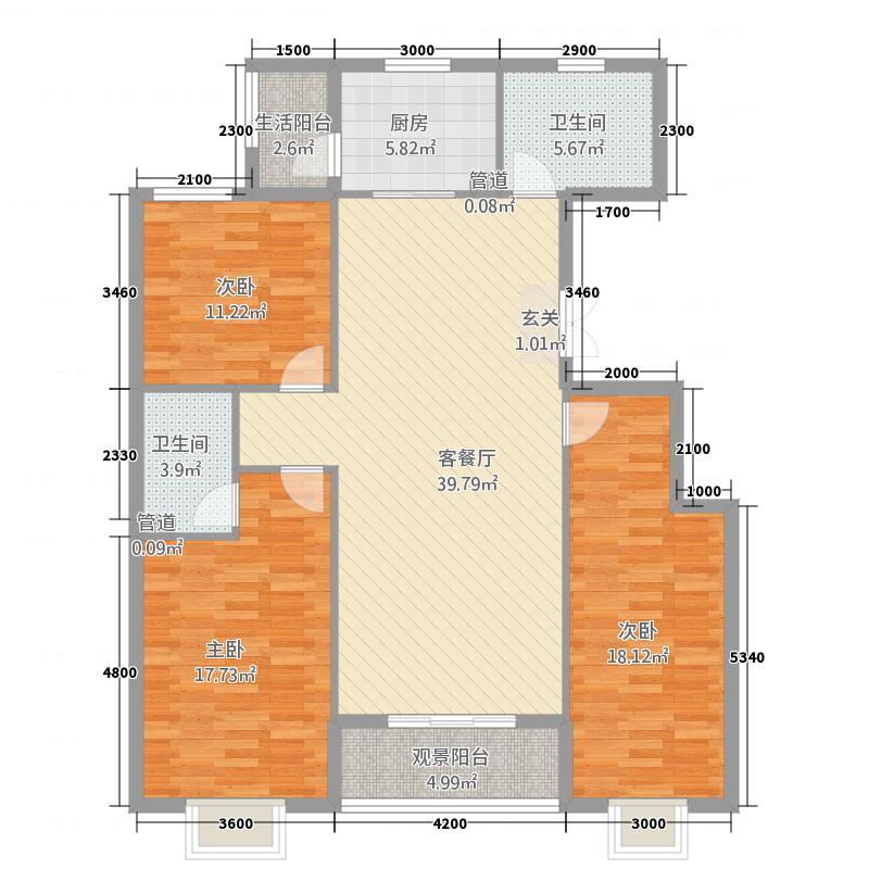 全兴紫苑Ⅱ商郡E户型