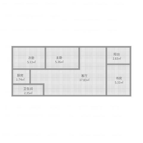 华侨新村11053室1厅1卫1厨56.00㎡户型图