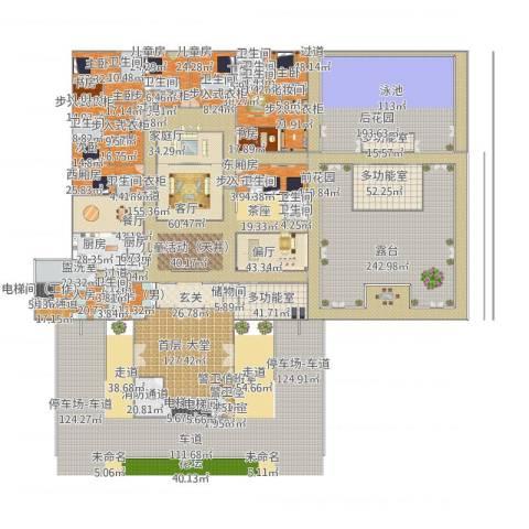 超-现代四合院9室3厅9卫2厨2834.00㎡户型图