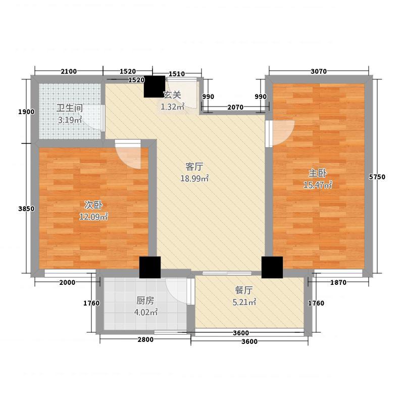 双博龙购物广场474.20㎡D-4户型2室2厅1卫1厨