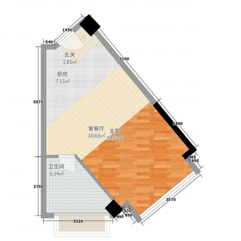侨荣城单身公寓5611户型