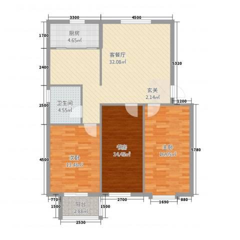 吉祥尚府3室1厅1卫1厨322.00㎡户型图