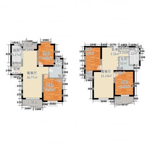 虹叶茗园4室2厅2卫2厨210.00㎡户型图