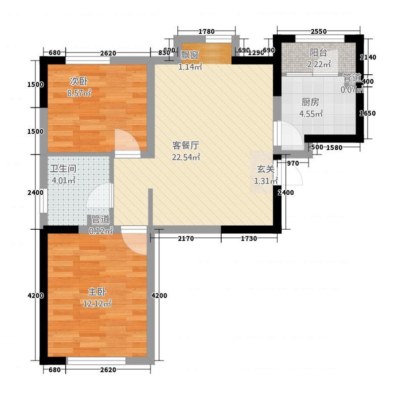 安居苑1215.20㎡A户型2室2厅1卫1厨