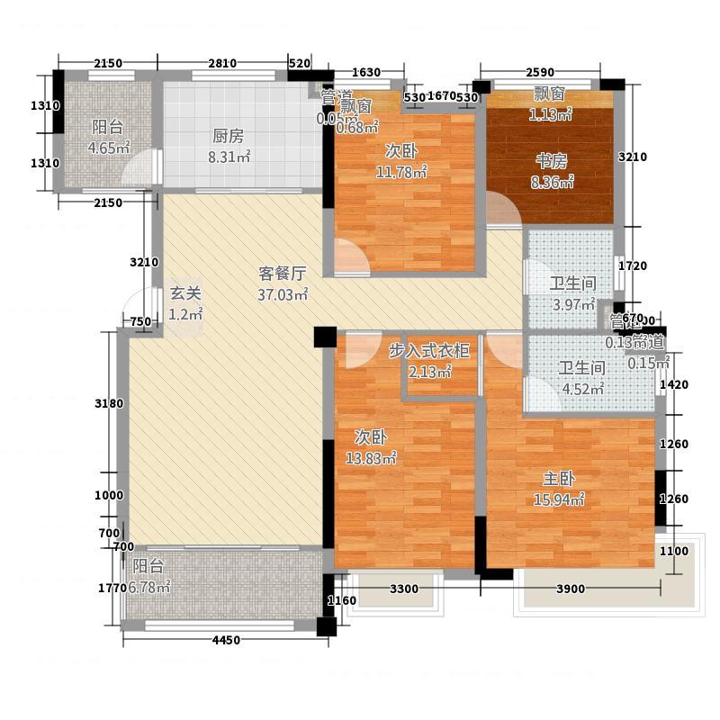 白城碧桂园415.20㎡户型4室2厅2卫1厨