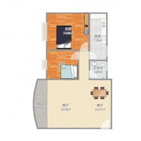 新风大厦1座5072室1厅1卫1厨95.00㎡户型图