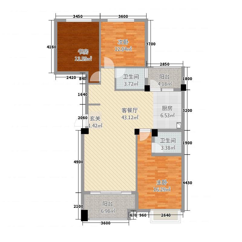 青山鹤岭32137.20㎡Q户型3室2厅2卫1厨