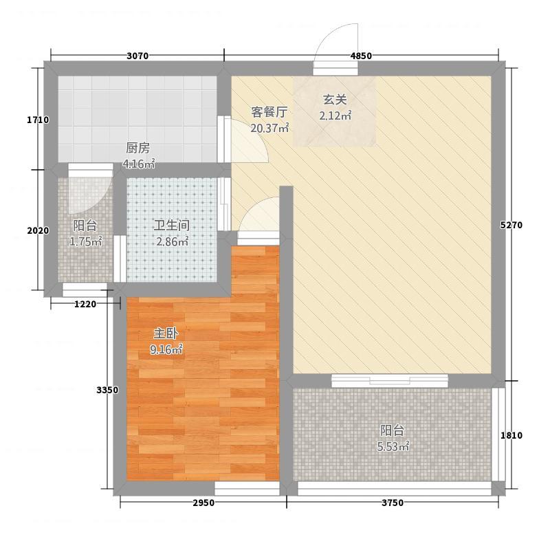 宝城名邸65.00㎡户型