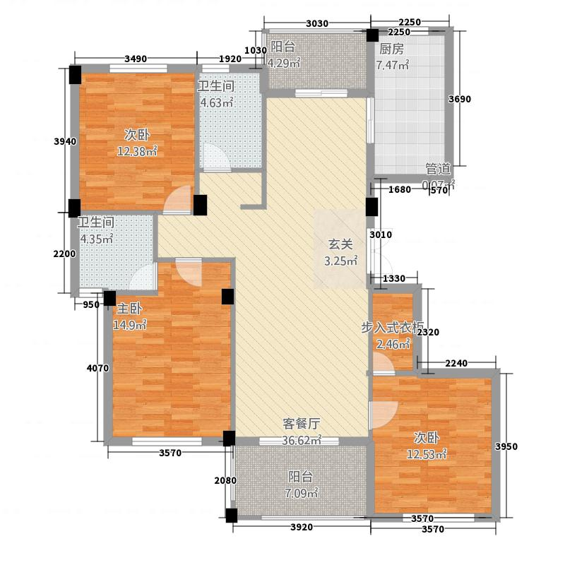 金溪园132135.31㎡C1户型3室2厅2卫1厨