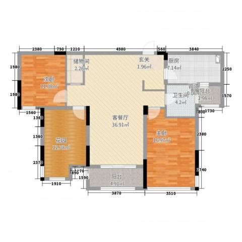 凯旋公馆2室1厅1卫1厨22113.00㎡户型图