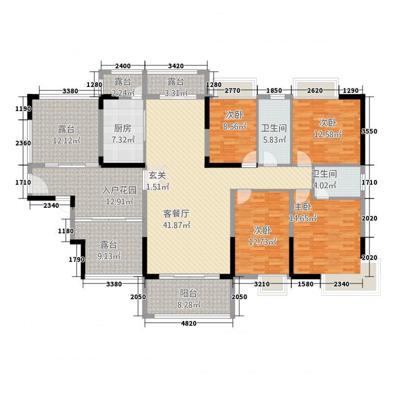 半山豪庭73162.20㎡7栋03户型4室2厅2卫1厨