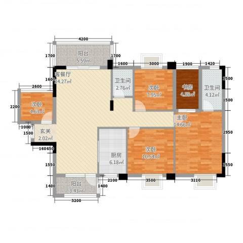祥和新城5室1厅2卫1厨112.74㎡户型图