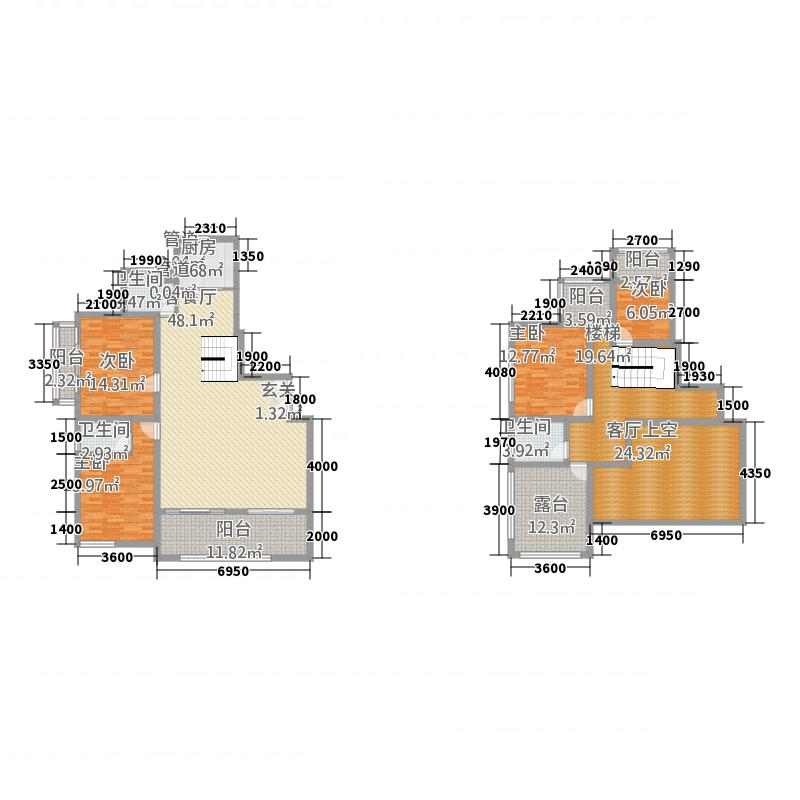 宝马花园18.68㎡户型4室2厅3卫