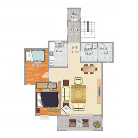 学府花园3室2厅1卫1厨112.00㎡户型图