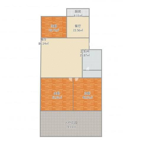 六里山南路宿舍2-23室2厅1卫1厨452.00㎡户型图
