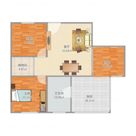 德兴大厦2室1厅1卫1厨110.41㎡户型图