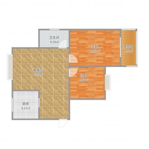 嘉禾颐苑2室1厅1卫1厨91.00㎡户型图