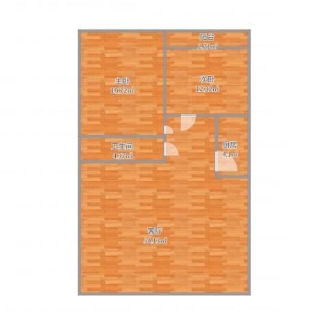 济南黄金花园2室1厅1卫1厨129.00㎡户型图